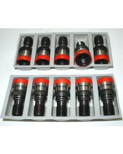 10 Anzugsbolzen rot DIN 2080 M16 SK40 z.B. für Deckel Fräsmaschine
