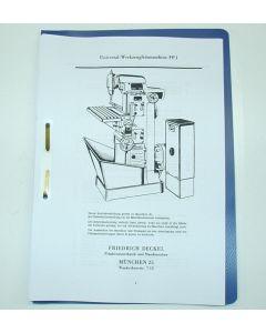 Betriebsanleitung FP1 Bj. 50-59 für Deckel Fräsmaschine