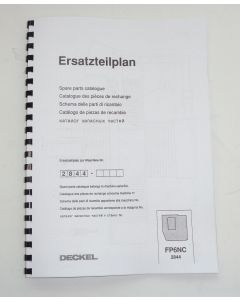 Ersatzteilplan Deckel Fräsmaschine FP6NC 2844