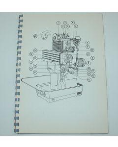 Ersatzteilplan FP2, ab Bj.67-75 für Deckel Fräsmaschine