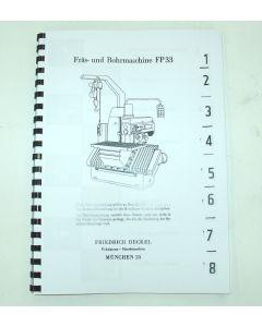 Betriebsanleitung Deckel Fräsmaschine FP33
