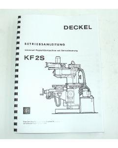 Betriebsanleitung Deckel KF2S