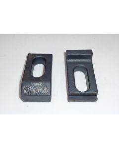 2 Spannpratzen für Maschinen-Schraubstock Allmatic 125mm, 160mm
