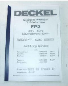 Elektrische Unterlagen  Deckel Fräsmaschine FP2, ab  Bj.78-80