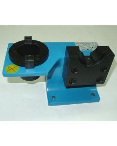 Montagebock SK40 nicht schwenkbar, blau, Deckel Fräsmaschine