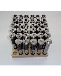 Spannzangensatz 355E D1-18 NEU 0,5mm steigend, Holzsockel, Deckel Fräsmaschine