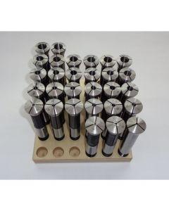 Spannzangensatz 355E D2-16 NEU 0,5mm steigend, Holzsockel,  Deckel Fräsmaschine