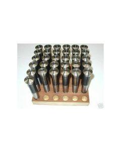 Spannzangensatz 355E D3-18 NEU 0,5mm steigend, Holzsockel, Deckel Fräsmaschine
