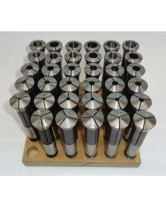 Spannzangensatz 355E D3-18 NEU 1mm steigend, Holzsockel, Deckel Fräsmaschine