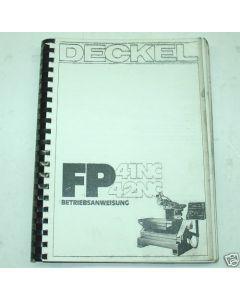 Bedienerhandbuch Deckel Fräsmaschine FP41/42  3301