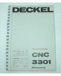 Betriebsanleitung Deckel Fräsmaschine CNC 3301
