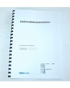 Elektrische Unterlagen  Deckel Fräsmaschine FP3-50 2860  D12