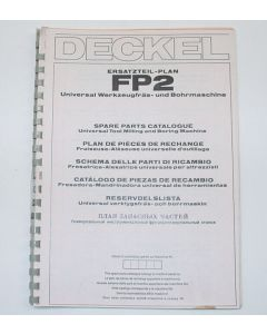 Ersatzteilplan Deckel Fräsmaschine FP2, ab Bj.78