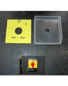 Abdeckung + Schild f. den Hauptschalter der Deckel FP1,2,3,3L Aktv Fräsmaschine