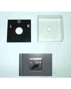 Abdeckung + Schild für Links-Rchtslauf der Deckel FP1,2,3,3L Aktv Fräsmaschine