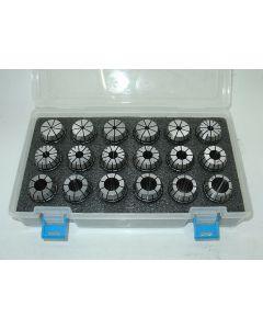 Spannzangensatz, ER32 D3-20mm Rl. max 8µm z.B. für Deckel Fräsmaschine