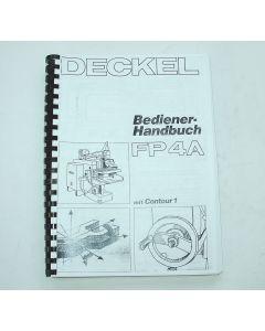 Bedienerhandbuch Deckel Fräsmaschine FP4A 2204 Contour 1