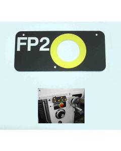 Blende für Not- Aus FP2 Deckel Fräsmaschine ab Bj,77