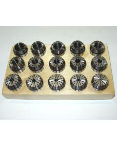 Spannzangensatz ER25  2-16mm 1mm steigend z.B. für Deckel Fräsmaschine