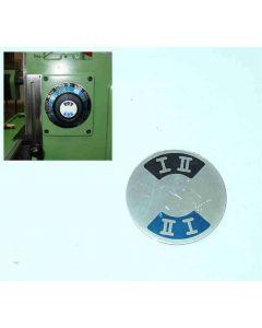 Schild für Getriebestufe I II gebr., Deckel FP1 Fräsmaschine