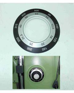 Schild für Vorschubgetriebe neu für Deckel FP3  Fräsmaschine