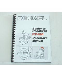 Bedienerhandbuch Deckel Fräsmaschine FP4 M 2203, bis Bj.86