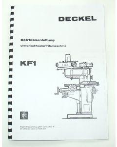 Betriebsanleitung Deckel KF1