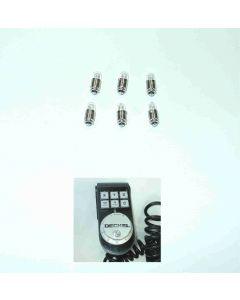 6x Lampe 51040007 für Elektr. Handrad 24mm für Deckel NC Fräsmaschine