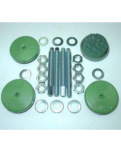 4 Maschinenfüße Ø60 M12x100 grün NEU Fräsmaschine / Drehmaschine