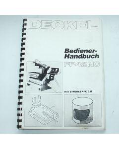 Bedienerhandbuch Deckel FP42 NC Steuerung Sinumerik