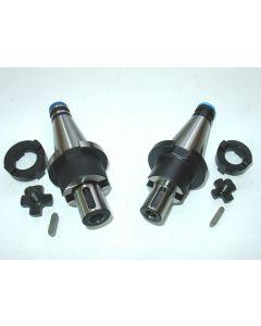 2 Kombiaufsteckdorne SK40 DIN2080  D22,27 z.B. für Deckel Fräsmaschine