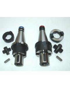 2 Kombiaufsteckdorne SK40 DIN2080  D27,32 z.B. für Deckel Fräsmaschine