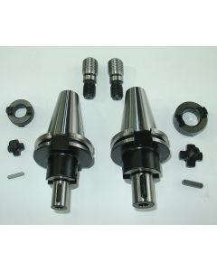 2 Kombiaufsteckdorn SK40 D16,D22 S20x2 z.B für Deckel Fräsmaschine