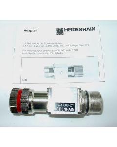 Adapter Signalreduzierung, Buchse 9 pol. Stecker 9 pol. für Heidenhain Maßstab