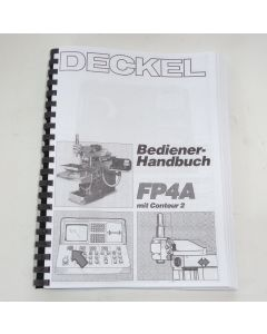Bedienerhandbuch Deckel Fräsmaschine FP4A 2204 Contour 2 bis Bj.88