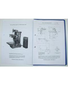 Betriebsanleitung Deckel Fräsmaschine FP2, bis Bj.67