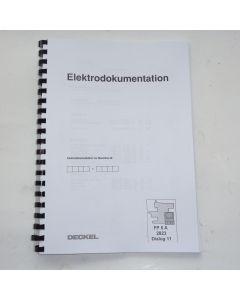 Elektrische Unterlagen  Deckel Fräsmaschine FP5A D11  2823