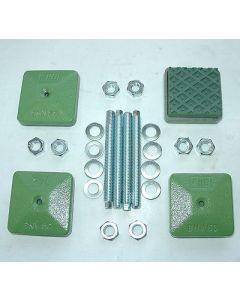 4 Maschinenfüße 60x60 M10x100 grün NEU Fräsmaschine / Drehmaschine