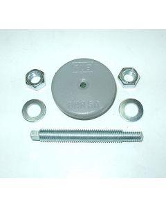 Maschinenfuß Ø60 M10x100 grau Fräsmaschine / Drehmaschine