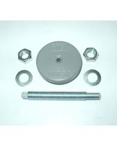 Maschinenfuß Ø60 M12x100 grau Fräsmaschine / Drehmaschine