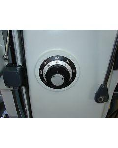 Schild für Vorschubgetriebe s/w gebr. für Deckel FP2 Fräsmaschine