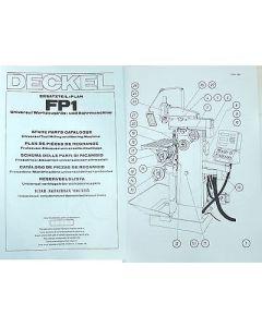 Ersatzteilplan Deckel Fräsmaschine FP1 mit Digitalanzeige Bj.1977-79