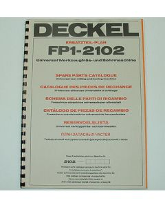 Ersatzteilplan Deckel Fräsmaschine FP1, ab Bj.1984