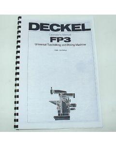 Betriebsanleitung Deckel Fräsmaschine FP3, ab Bj.78 english TNC111