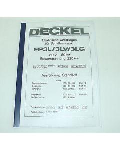 Elektrische Unterlagen Deckel Fräsmaschine FP3L-3LV, ab Bj.78