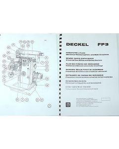 Ersatzteilplan Deckel Fräsmaschine FP3, bis Bj.74