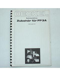 Betriebsanleitung Zubehör Deckel FP3A 2206