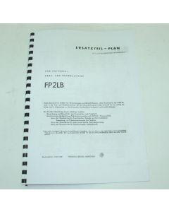 Ersatzteilplan Deckel Fräsmaschine FP2LB