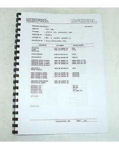 Elektrische Unterlagen Deckel Fräsmaschine FP2A 2819