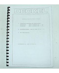 Elektrische Unterlagen Deckel Fräsmaschine FP3A 2103